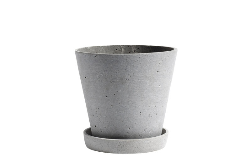 Hay flowerpot L grey
