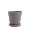 Hay flowerpot M plum