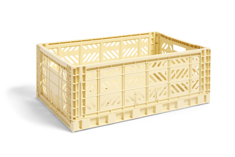 hay colour crate lys gul