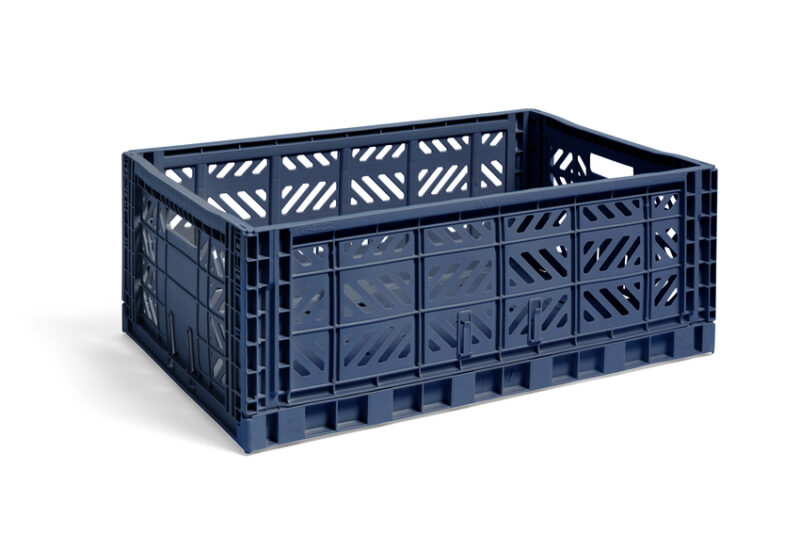 hay colour crate navy large