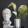 by lassen kubus vase lily hvid